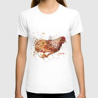chicken T-shirts featuring Chicken by libby's art studio