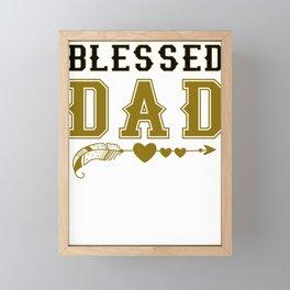 Blessed Dad Gift Framed Mini Art Print