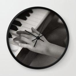 petite fille au piano, june 2018 Wall Clock