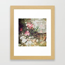 Analogue Love - Earth is a flower and it's pollinating.  Framed Art Print