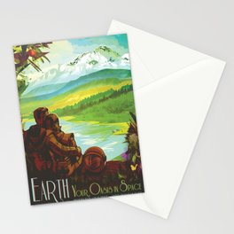 Earth: Your Oasis in Space (Courtesy NASA/JPL-Caltech) Stationery Cards