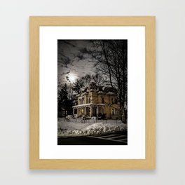 Yellow Victorian Framed Art Print