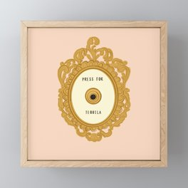 Press for Tequila Framed Mini Art Print