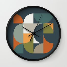 Mid Century Geometric 12/2 Wall Clock
