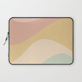 Abstract Color Waves - Neutral Pastel Laptop Sleeve