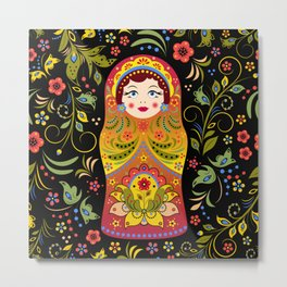 Russian matrioshka Metal Print