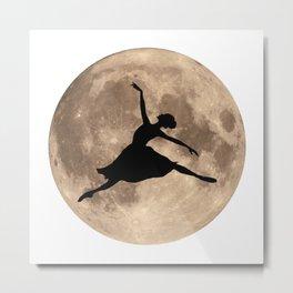 Full Moon Ballerina Metal Print
