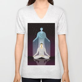 astral body flying Unisex V-Neck