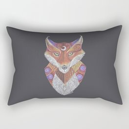 Fox Totem Rectangular Pillow