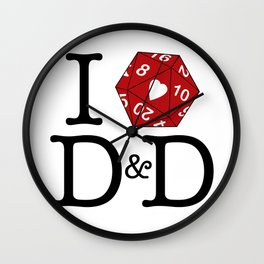 I Heart D&D Wall Clock