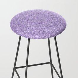 The Most Detailed Intricate Mandala (Violet Purple) Maze Zentangle Hand Drawn Popular Trending Bar Stool