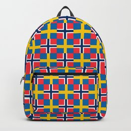 Mix of flag: norway and sweden Backpack
