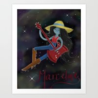 marceline Art Prints featuring Marceline  by Bunny Frost