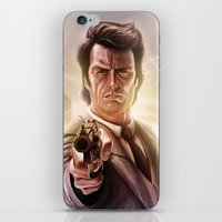 clint eastwood iPhone & iPod Skins featuring Clint Eastwood by Jose Manuel Serrano