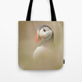 Portrait of Puffin Tote Bag
