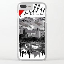 I love Billings Clear iPhone Case