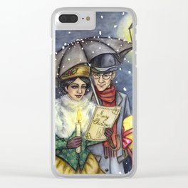 Christmas Eve Clear iPhone Case