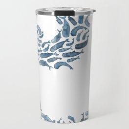 Whale Wave.  Travel Mug