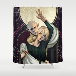 The moon Shower Curtain