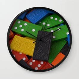 Dominoes Wall Clock