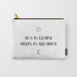 Gemini/Aquarius Sun and Moon Signs Carry-All Pouch