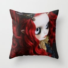 STEAMPUNK (Ooak  BLYTHE Doll) Throw Pillow