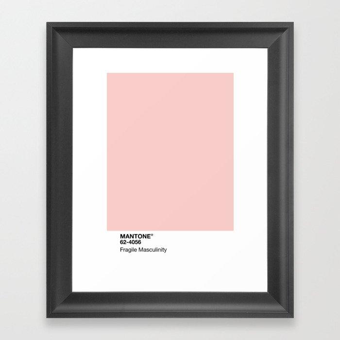 MANTONE® Fragile Masculinity Gerahmter Kunstdruck