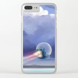Cruising over the beach Clear iPhone Case