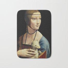 THE LADY WITH AN ERMINE - DA VINCI Bath Mat