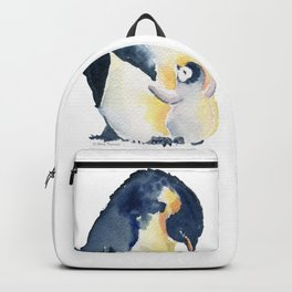 Love You Mom - Little Penguin and Mom Backpack