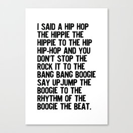 RAPPERS DELIGHT Hip Hop CLASSIC MUSIC Canvas Print
