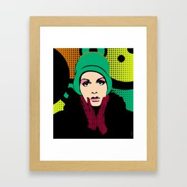 """Twiggy Pop Color"" Framed Art Print"