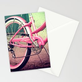Retro Pink Bicycle Stationery Cards