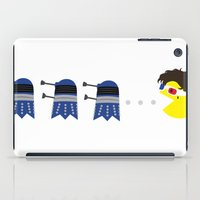pacman iPad Cases featuring Doctor Pacman by Elizabeth A