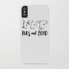 Pals Not Food Illustration by Laura Tubb iPhone Case