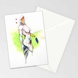 Alexandra Grace, Nude female surrealist drawing, NYC artist Stationery Cards
