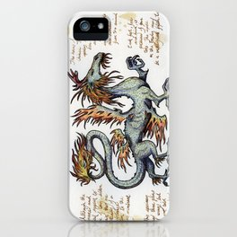 Lesser Chinese Fire Dragon iPhone Case