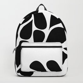 Small Abstract Black & White Foliage Pattern - Mix and Match with Simplicity of Life Backpack