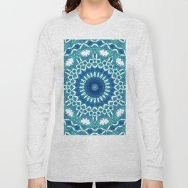 Sea Green Mandala Long Sleeve T-shirt