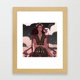 Greek Mythology Hera Framed Art Print