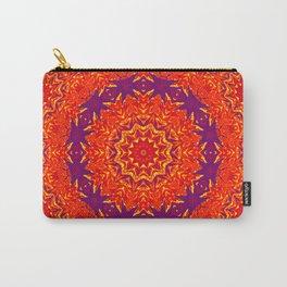 Vibrant elegant red kaleidoscope mandala Carry-All Pouch