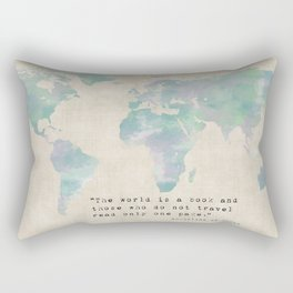 The World is a Book Rectangular Pillow