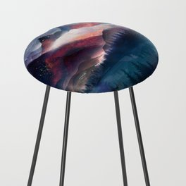 Mountain Lake Under the Stars Counter Stool