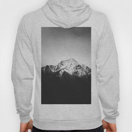 Black and white snowy mountain Hoody