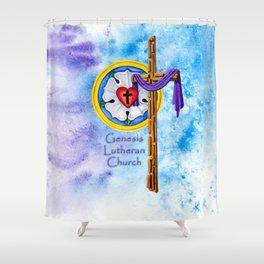 Lutheran Christian Image Shower Curtain