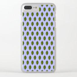 Hops Light Blue Pattern Clear iPhone Case