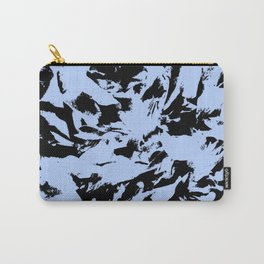 Blue Black Pattern Military Camouflage Carry-All Pouch
