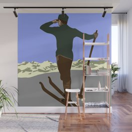 Each mountain peak you ascend Wall Mural