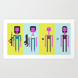 ALIEN(S)³ - Ellen Ripley Icons Art Print