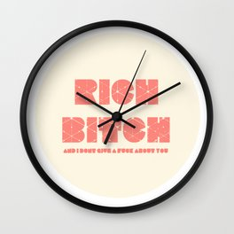 richbitch Wall Clock